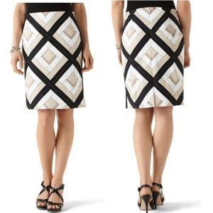 WHBM diamond pencil skirt
